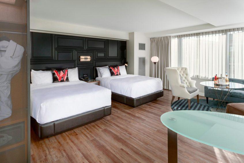 W Boston Luxury Hotel - Boston, MA, USA - Mega Guest Room Interior