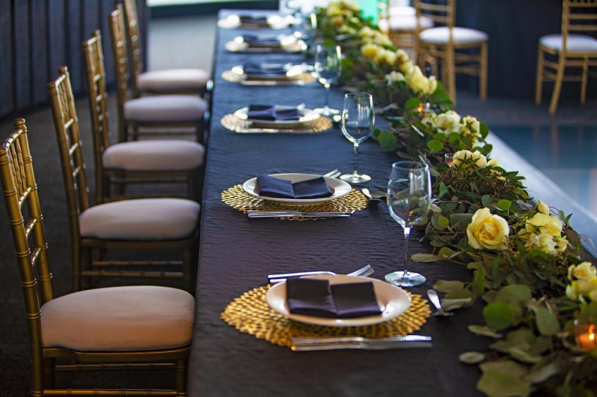 W Chicago Lakeshore Luxury Hotel - Chicago, IL, USA - Altitude Wedding Table Setup