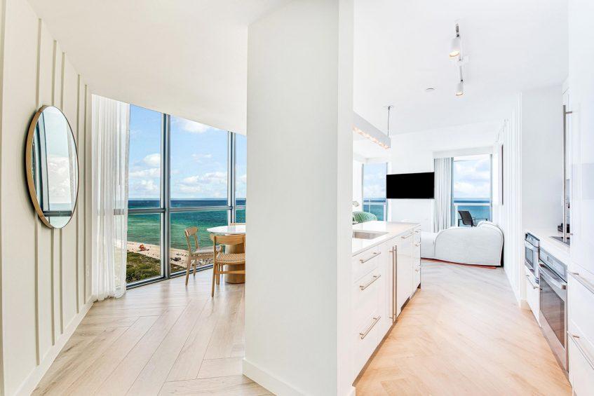 W South Beach Luxury Hotel - Miami Beach, FL, USA - Marvelous Suite Kitchen View