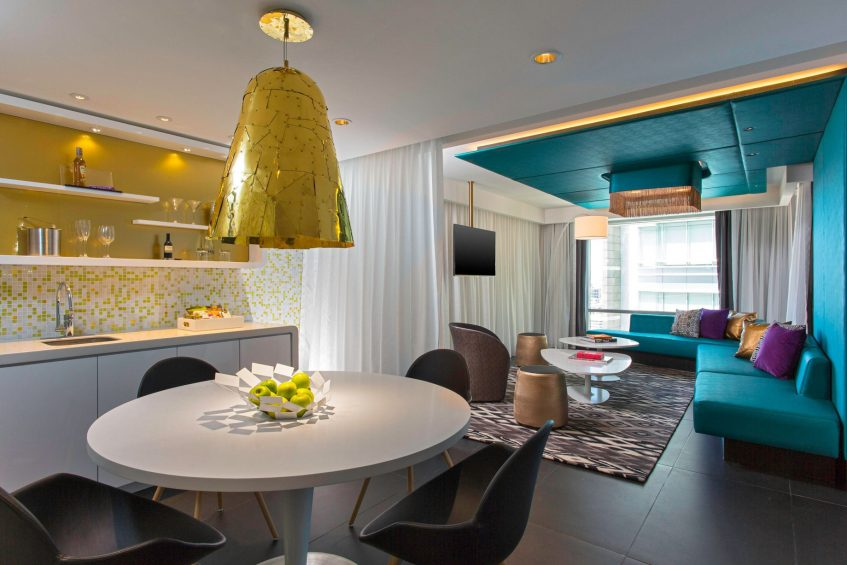 W Bogota Luxury Hotel - Bogota, Colombia - Wow King Suite Living Room
