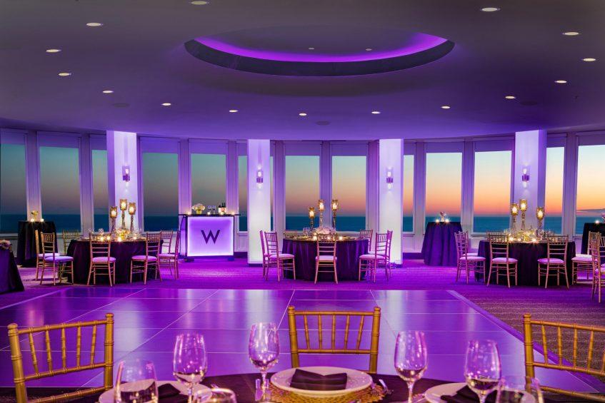 W Chicago Lakeshore Luxury Hotel - Chicago, IL, USA - Altitude Wedding Reception