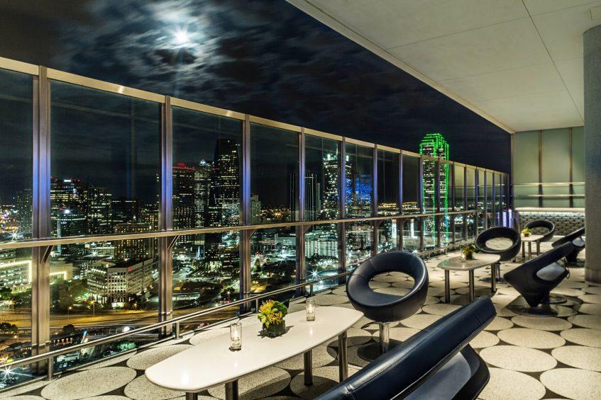 W Dallas Victory Luxury Hotel - Dallas, TX, USA - Altitude Terrace Downtown View