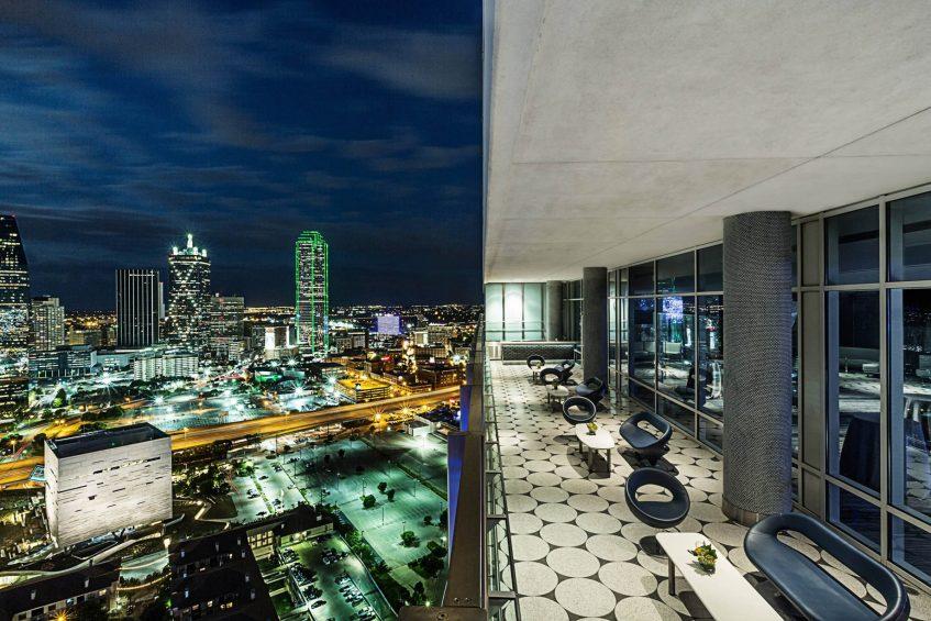 W Dallas Victory Luxury Hotel - Dallas, TX, USA - Altitude Terrace View