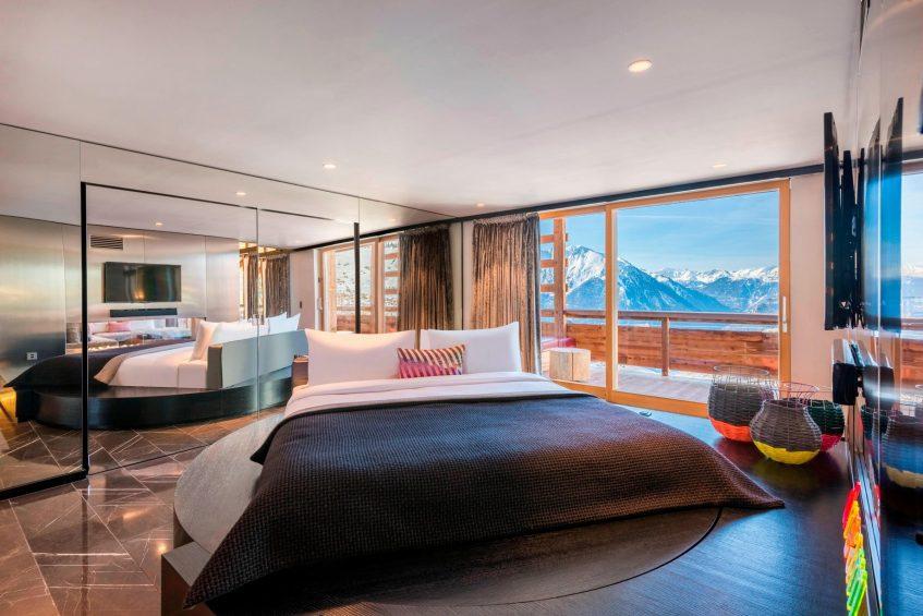 W Verbier Luxury Hotel - Verbier, Switzerland - E WOW Suite Bedroom