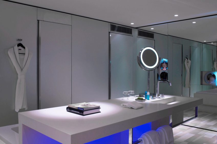 W London Luxury Hotel - London, United Kingdom - Suite Bathroom Vanity Mirror