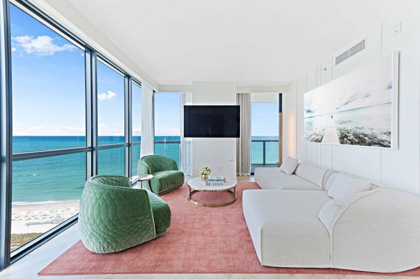 W South Beach Luxury Hotel - Miami Beach, FL, USA - Marvelous Suite Living Area