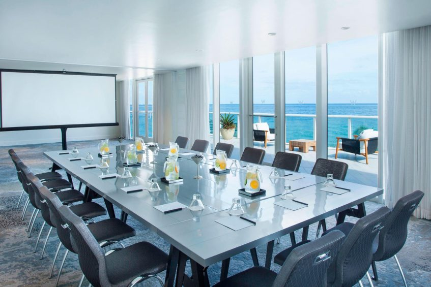 W Fort Lauderdale Luxury Hotel - Fort Lauderdale, FL, USA - Meeting Room