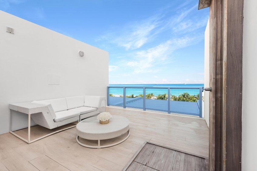 W South Beach Luxury Hotel - Miami Beach, FL, USA - Mega Bi Level Suite Balcony