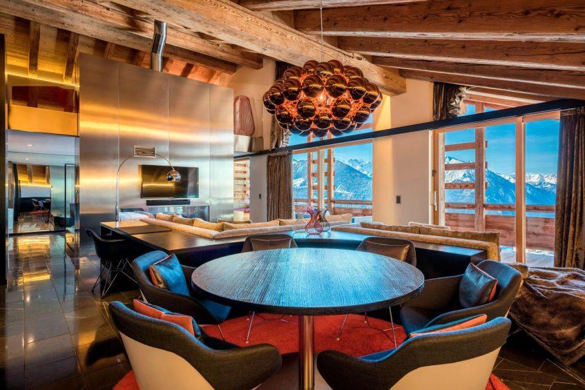W Verbier Luxury Hotel - Verbier, Switzerland - E WOW Suite Lounge Area