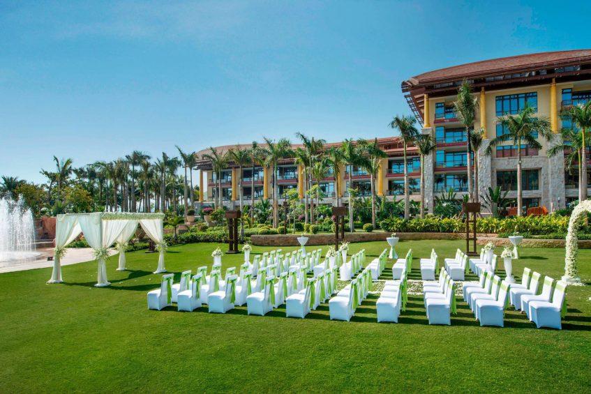 The St. Regis Sanya Yalong Bay Luxury Resort - Hainan, China - Outdoor Wedding Reception