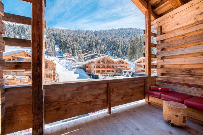 W Verbier Luxury Hotel - Verbier, Switzerland - Fabulous Guest Room Balcony