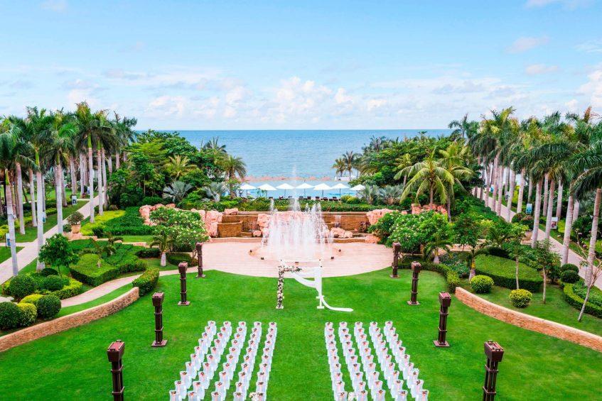 The St. Regis Sanya Yalong Bay Luxury Resort - Hainan, China - Wedding at Central Lawn