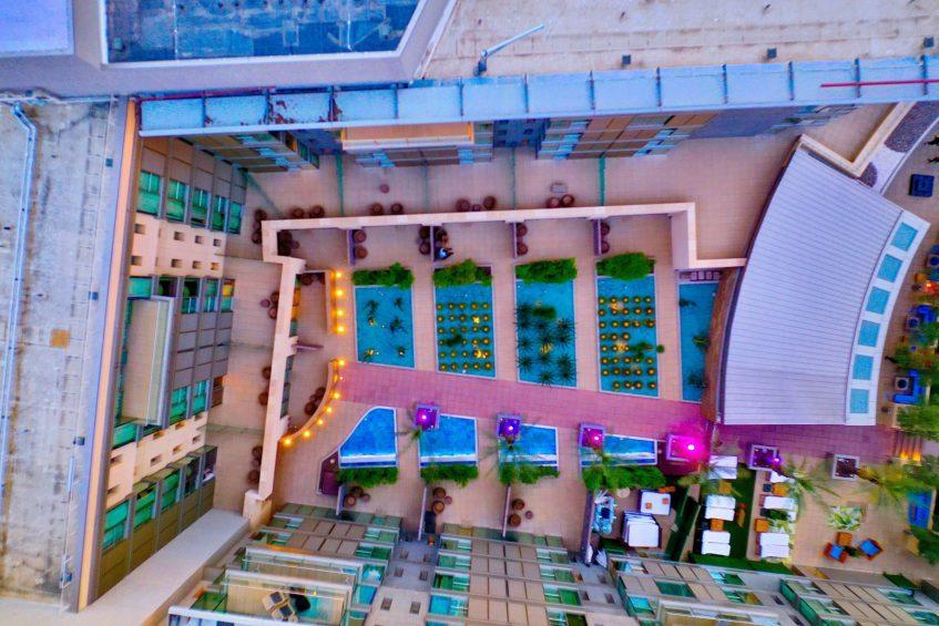 W Scottsdale Luxury Hotel - Scottsdale, AZ, USA - Hotel Overhead Aerial