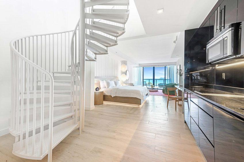 W South Beach Luxury Hotel - Miami Beach, FL, USA - Mega Bi Level Oceanfront Suite Living Area