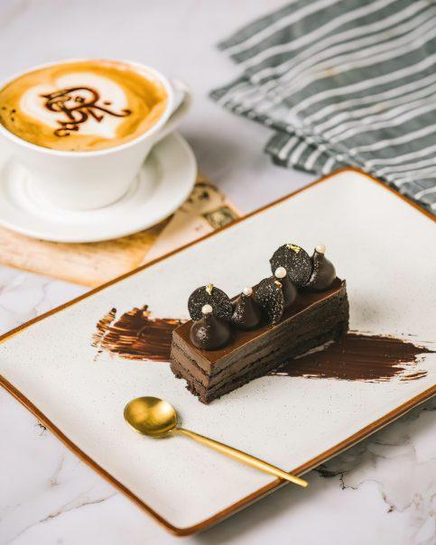 The St. Regis Mumbai Luxury Hotel - Mumbai, India - Flourless Chocolate Cake and Coffee