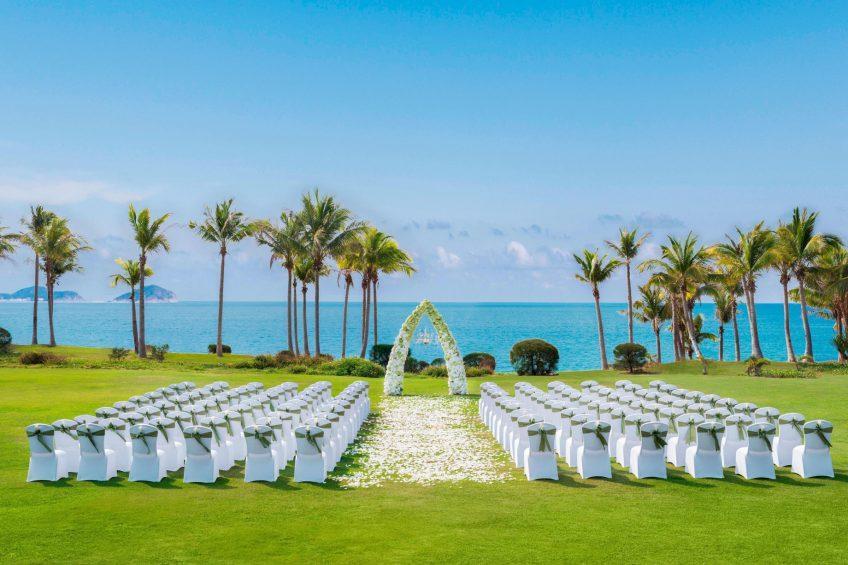 The St. Regis Sanya Yalong Bay Luxury Resort - Hainan, China - Wedding at Beach Lawn