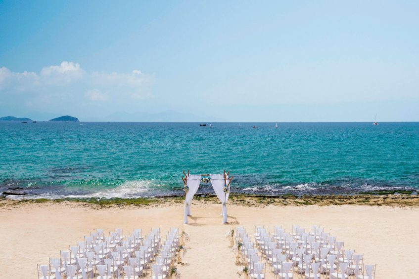 The St. Regis Sanya Yalong Bay Luxury Resort - Hainan, China - Wedding at the Beach