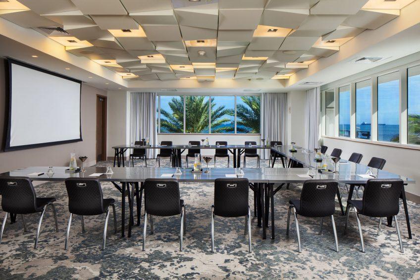 W Fort Lauderdale Luxury Hotel - Fort Lauderdale, FL, USA - Studio Meeting Room