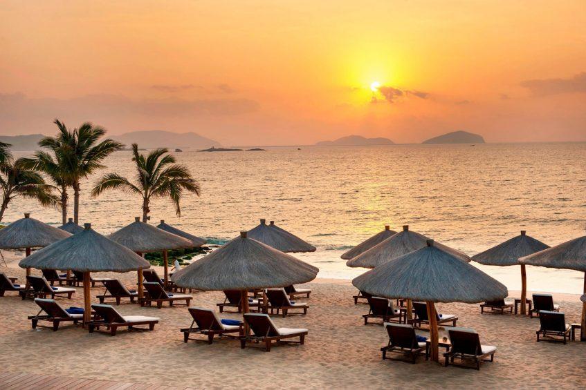 The St. Regis Sanya Yalong Bay Luxury Resort - Hainan, China - Tranquil Beach Sunset