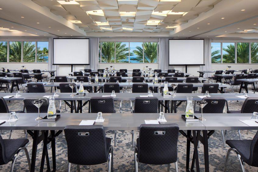 W Fort Lauderdale Luxury Hotel - Fort Lauderdale, FL, USA - Studio Classroom Setup
