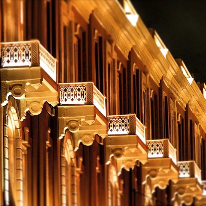 W Istanbul Luxury Hotel - Istanbul, Turkey - Architectural Details Night