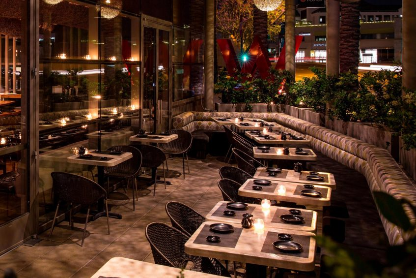 W Scottsdale Luxury Hotel - Scottsdale, AZ, USA - Sushi Roku Tables