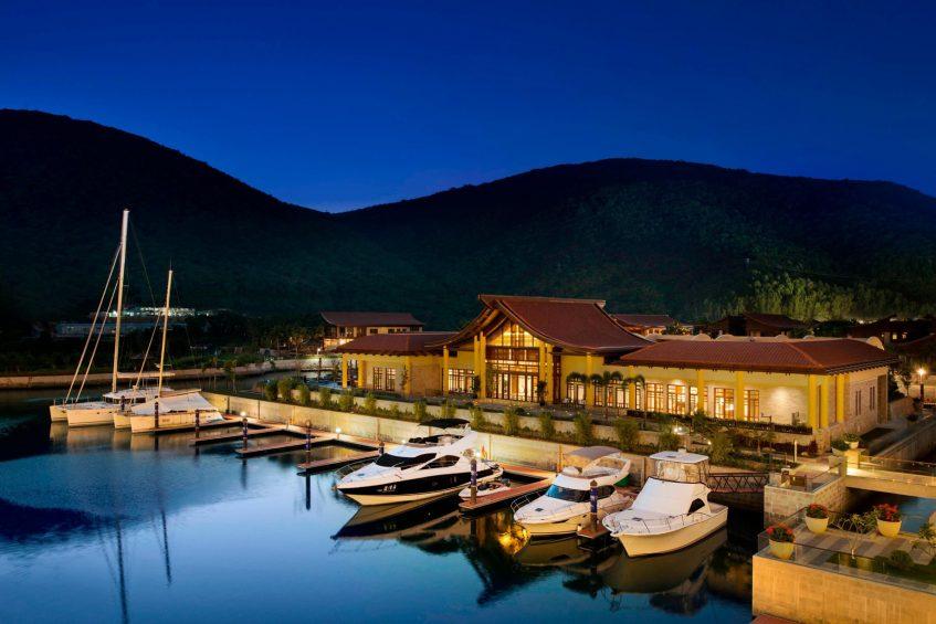 The St. Regis Sanya Yalong Bay Luxury Resort - Hainan, China - Iridium Spa Exterior Night