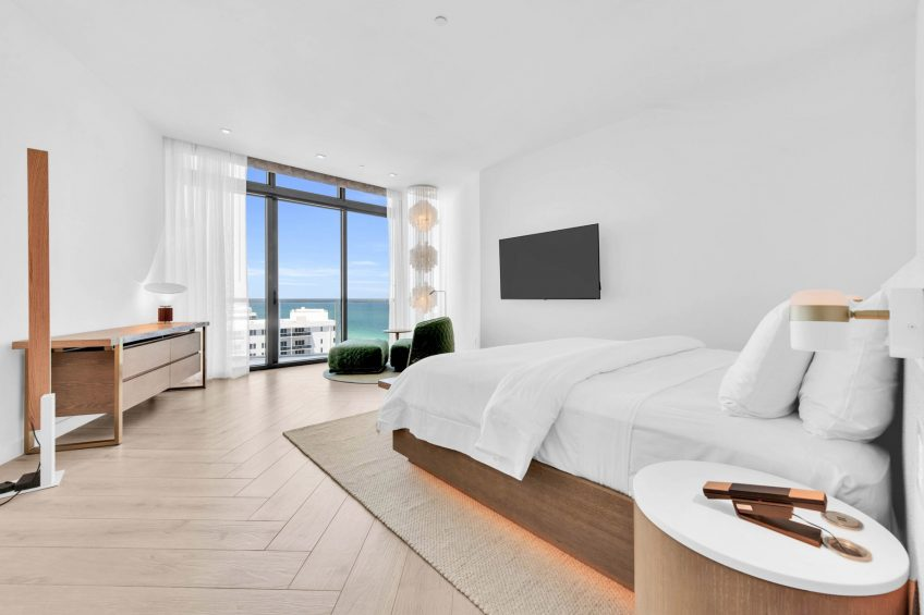 W South Beach Luxury Hotel - Miami Beach, FL, USA - Ocean View Penthouse Suite Bedroom