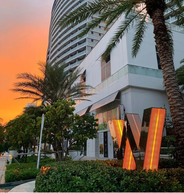 W Fort Lauderdale Luxury Hotel - Fort Lauderdale, FL, USA - W Sign Sunset