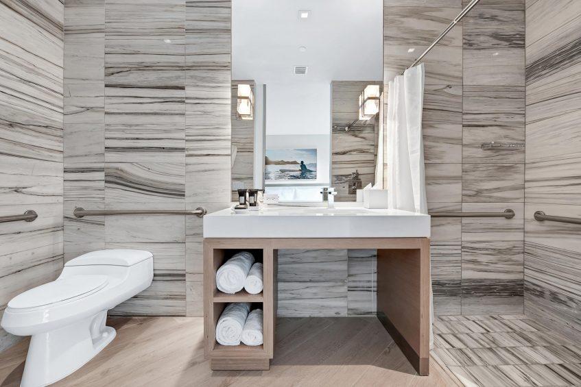 W South Beach Luxury Hotel - Miami Beach, FL, USA - Poolside Bungalow 2 Bedroom Suite Bathroom