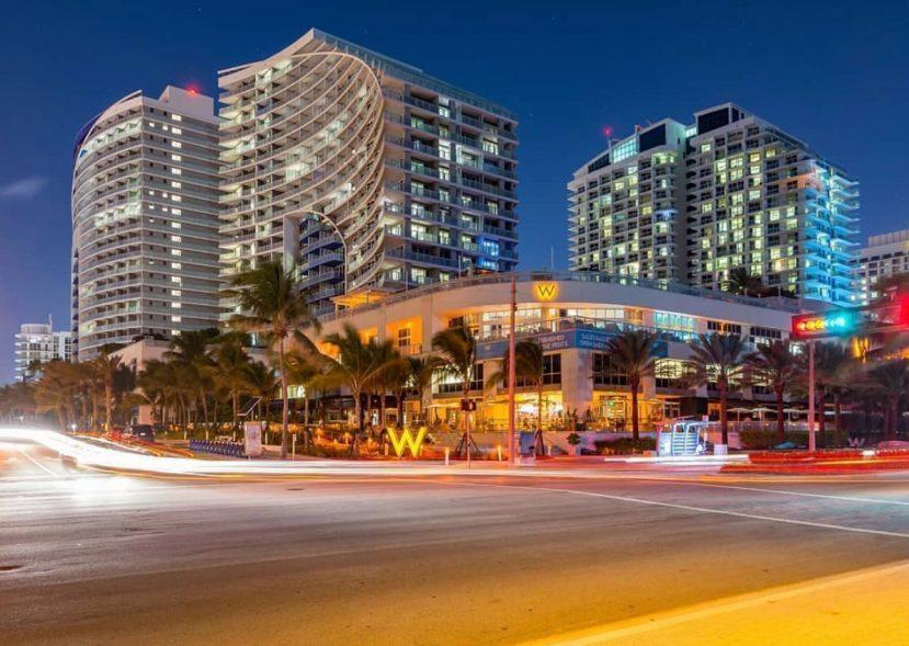 W Fort Lauderdale Luxury Hotel - Fort Lauderdale, FL, USA - W Hotel Night