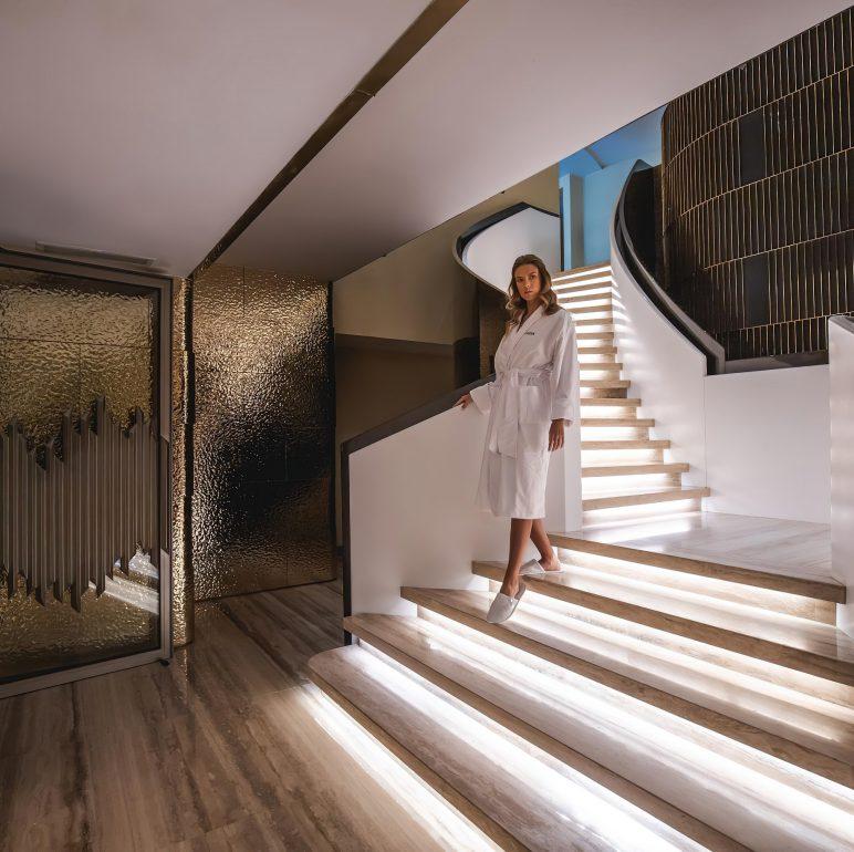 The St. Regis Cairo Luxury Hotel - Cairo, Egypt - Iridium Spa Stairs