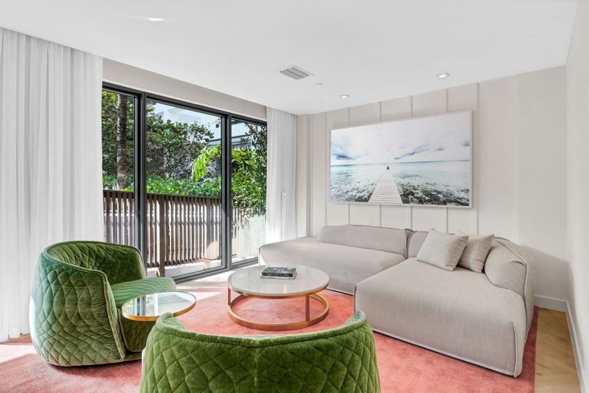 W South Beach Luxury Hotel - Miami Beach, FL, USA - Poolside Bungalow 2 Bedroom Suite Seating