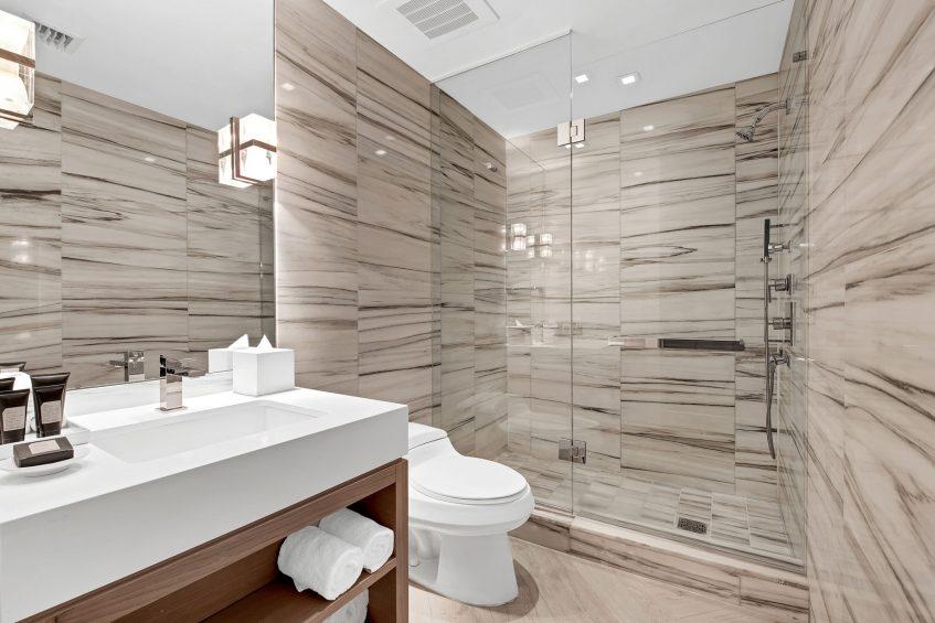 W South Beach Luxury Hotel - Miami Beach, FL, USA - Poolside Bungalow 2 Bedroom Suite Shower