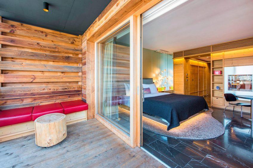 W Verbier Luxury Hotel - Verbier, Switzerland - Guest Bedroom Deck