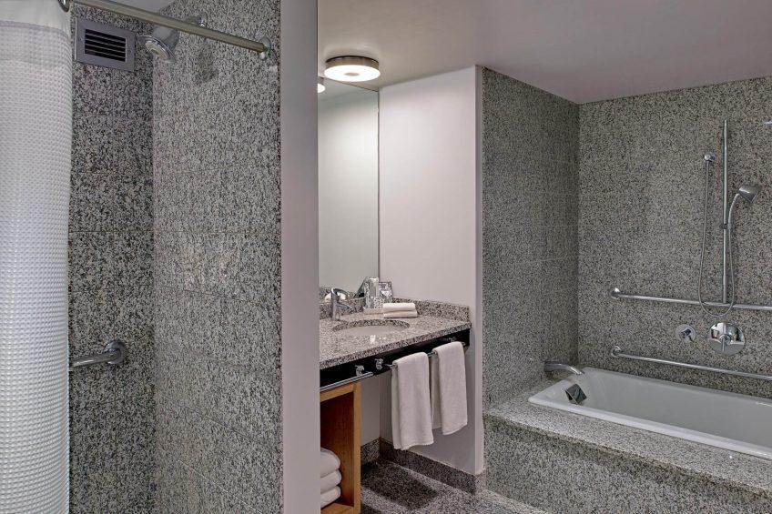 W Boston Luxury Hotel - Boston, MA, USA - WOW Suite Accessible Guest Bathroom