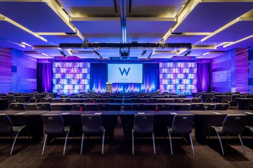 W Scottsdale Luxury Hotel - Scottsdale, AZ, USA - Great Room Classroom Screen