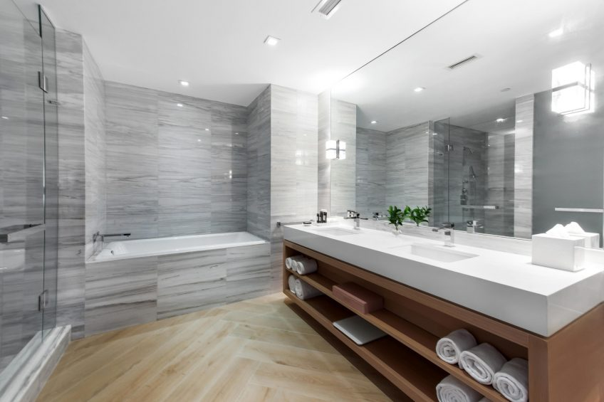 W South Beach Luxury Hotel - Miami Beach, FL, USA - Sanctuary Suite Bathroom Vanity