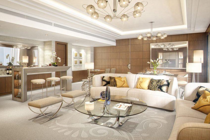 The St. Regis Mumbai Luxury Hotel - Mumbai, India - Residential Suite Living Room Decor