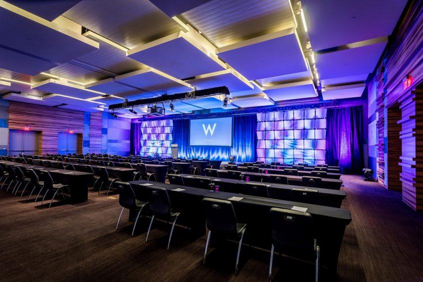 W Scottsdale Luxury Hotel - Scottsdale, AZ, USA - Great Room Classroom Setup