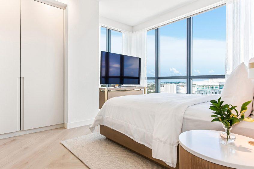 W South Beach Luxury Hotel - Miami Beach, FL, USA - Sanctuary Suite Bedroom
