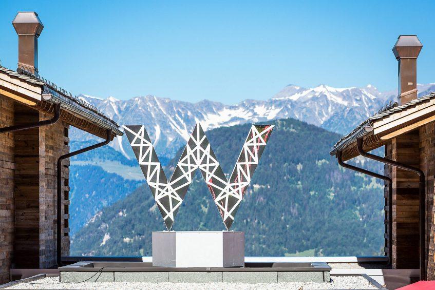W Verbier Luxury Hotel - Verbier, Switzerland - Mountain Summer W Sign