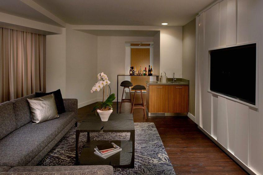 W Boston Luxury Hotel - Boston, MA, USA - WOW Suite Living Area Decor