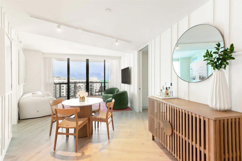 W South Beach Luxury Hotel - Miami Beach, FL, USA - Sanctuary Suite Bedroom Table