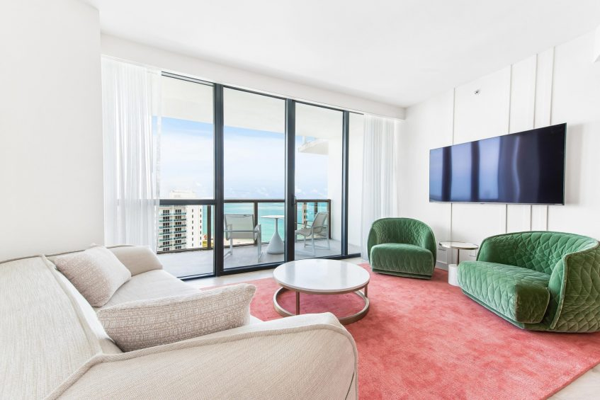 W South Beach Luxury Hotel - Miami Beach, FL, USA - Sanctuary Suite Seating