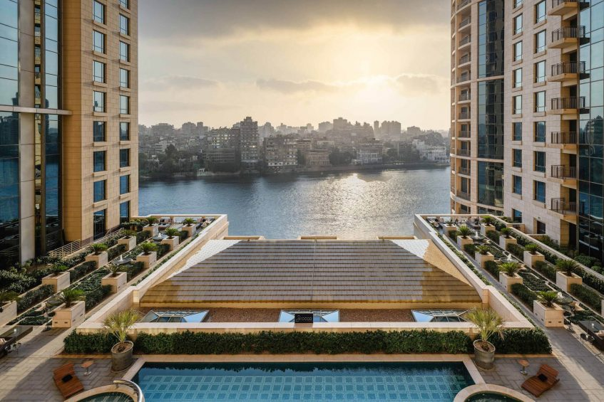 The St. Regis Cairo Luxury Hotel - Cairo, Egypt - Guest Room Nile River Pool View