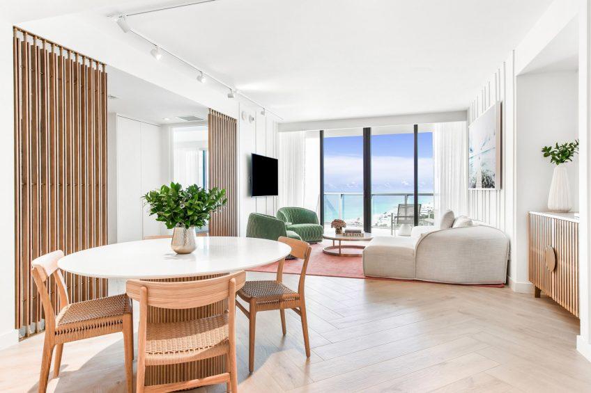 W South Beach Luxury Hotel - Miami Beach, FL, USA - Sensational Suite Living Area