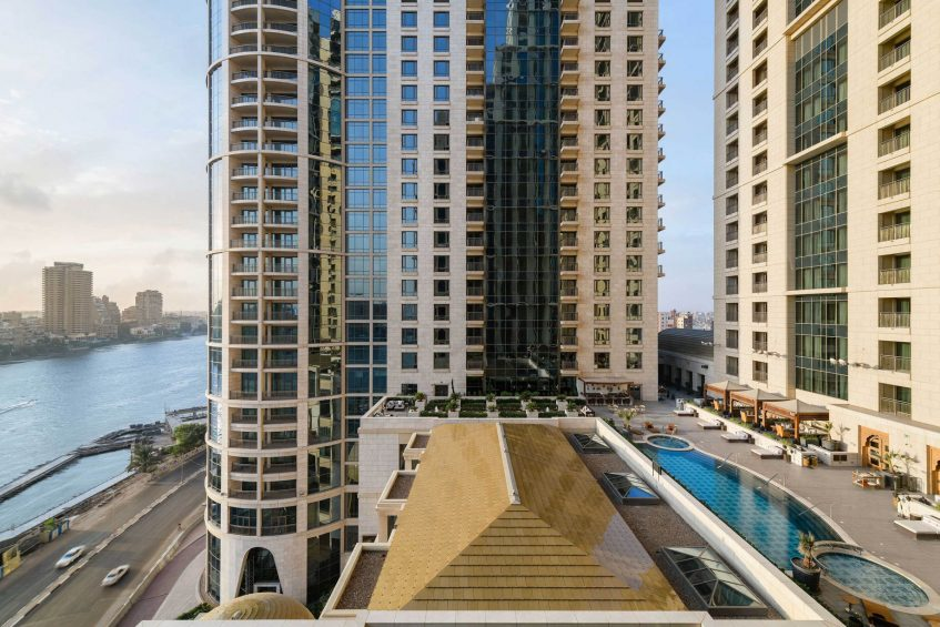 The St. Regis Cairo Luxury Hotel - Cairo, Egypt - Guest Room Nile River Pool Deck View