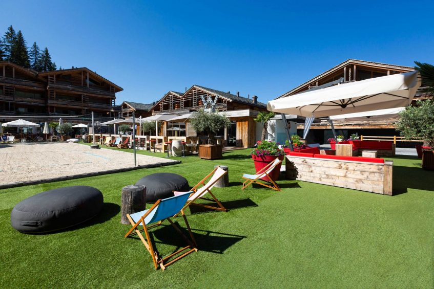 W Verbier Luxury Hotel - Verbier, Switzerland - La Plage Outdoor Relaxation