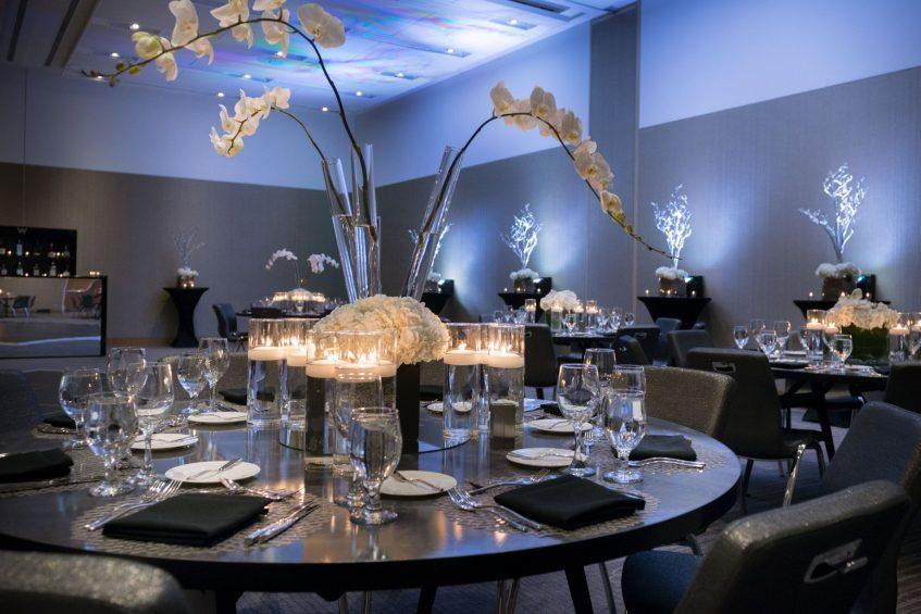 W Boston Luxury Hotel - Boston, MA, USA - Great Room Banquet Table Setup
